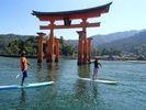 【広島・宮島】世界遺産の海をクルージング!SUP体験スクール(半日コース)の様子