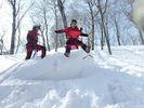 【群馬・みなかみ】世界初!日本発!パウダースノーを楽しむNEWスポーツ!スノーキャニオニング!の様子