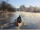 【北海道・釧路川】雪と氷が作る、冬ならではの湿原を堪能!冬の釧路川のカヌーツアーの様子