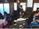 【山梨・山中湖】富士山のふもとで!ドーム船でワカサギ釣り!最大7時間!【快適ドーム船】の様子