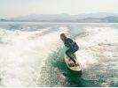 【滋賀・琵琶湖】ウェイクサーフィン体験プランの様子