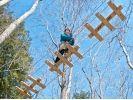 【長野・軽井沢】樹上でダイナミックな体験を!フォレストアドベンチャー(アドベンチャーコース)の様子