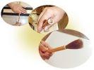 【奈良・奈良筆】「筆軸くり込み」から「穂首の仕上げ」を行う伝統工芸体験の様子