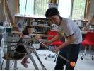 【鹿児島・吹きガラス体験】吹きガラスで世界にひとつだけのグラスが成形できるの様子