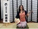 【大阪府・伝統文化体験】英語でご案内OK!三味線・お座敷遊び体験の様子