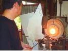 【愛知・吹きガラス体験】吹きガラスで自分だけのガラスの器を作ろうの様子