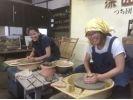 【山形県・陶芸体験】電動ろくろを使った本格的な陶芸体験!電動ろくろ体験の様子