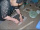 【山形県・絵付け体験】お皿に絵を描いて絵つけをしてみようの様子