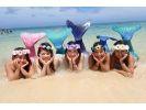 【沖縄・恩納村】4歳から参加OK!人魚になれる夢が叶っちゃう!海外で人気のマーメイドスイムの様子