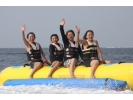 【静岡・沼津】みんなで楽しもう♪バナナボート体験!BBQオプションつき!の様子