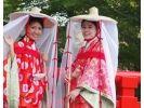 【広島・宮島】女子旅に人気!平安時代のおでかけスタイルに変身&宮島観光[平安壺装束プラン]の様子
