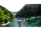 【奥多摩レイクSUP】湖でのんびりチルアウトの様子