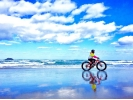 【鳥取県・鳥取市】日本唯一!鳥取砂丘を極太タイヤでサイクリング!の様子