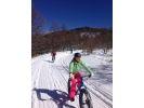 手ぶらでファットバイク雪遊びの様子