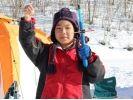 【北海道・十勝】サホロ湖氷上でワカサギ釣り体験の様子