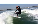【福岡・海の中道マリーナ】ボートサーフィン 上質な波をひとりじめ!の様子