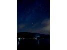 青木湖 星空(曇りの場合「夜」)の散歩 湖面コース&ホタル観賞クルーズ®&黙土焼きの様子