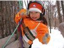 【北海道・十勝】サホロスキー場で木登り体験の様子