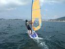 【和歌山・浜の宮】ウィンドサーフィン(初心者~中級者コース)の様子