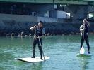 【和歌山・浜の宮】SUP(スタンドアップパドルボード)体験コースの様子