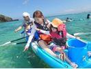【古宇利大橋・羽地内海周辺海域】カヤック体験とバナナボートで行く天然ビーチ上陸ツアー!の様子