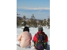 【長野・志賀高原】雪景色の山頂や林を散策☆スノーシュー体験(2時間プラン)の様子