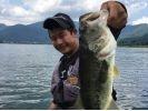 【山梨・ 南都留郡】河口湖バス釣り教室〔オカッパリ(岸釣り)コース〕の様子