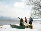 【北海道・弟子屈町】冬の源流ネイチャーツアー(眺湖橋~美登里橋コース)の様子