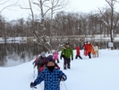 【北海道・富良野】スノーシュー体験・鳥沼公園散策ツアー(半日コース)の様子