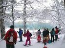 【福島・裏磐梯】雪原の中に輝く青!神秘の五色沼スノーシュー体験(午前/午後)の様子