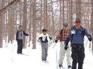 【長野・落倉高原】歩くスキー体験ツアー!ウロコ板で森を歩こう!の様子