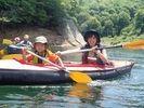 【群馬・水上/みなかみ】美しい湖へ漕ぎ出そう★カヌー体験(半日コース)の様子
