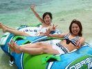 【沖縄・瀬底島】 アクティブマリンコース【トーイングチューブ&ジェットスキー】の様子
