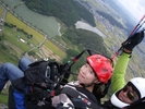 【パラパーク京都】無料送迎あり!パラグライダー体験470mタンデムフライトコースの様子