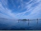 【半日・2時間】瀬戸内海に浮かぶ百島から漕ぎ出そう!SUP体験コースの様子