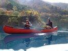 【群馬・奥四万湖】透明度18m以上!コバルトブルーの湖でカヌーツアー(1日コース)の様子