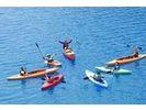 【群馬・奥四万湖】 透明度18m以上!コバルトブルーの湖でカヌーツアー(半日コース)の様子