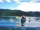 【山梨・河口湖】カヌーに乗ってみたい方向け!カヌーガイド(30分)の様子
