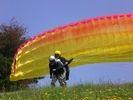 【山形・南陽】初心者にオススメ!パラグライダー体験タンデム(二人乗り)フライトの様子