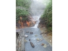 【北海道・地獄谷 登別温泉で山歩き】とっておき!天然足湯ガイドの様子