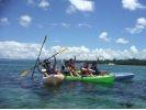 【沖縄・国頭・今帰仁】美ら海水族館から車で10分!のんびりシーカヤックツアー(1組限定)の様子