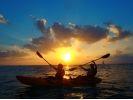 【沖縄・読谷村】西海岸に沈む夕日を見ながらサンセットカヤッククルージング☆の様子
