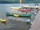 【山梨・山中湖】ゆったりとした湖上の時間を楽しむ!カナディアンカヌー・カヤックツアー(2~3人乗り)の様子