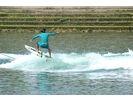 【香川・高松・内場ダム】初心者の方でも気軽にかっこよく滑れる!ウェイクサーフィン体験(30分)の様子