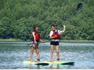 【長野・青木湖】思索の湖、青木湖で初めてのSUP体験(90分)の様子