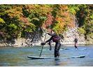 日高・沙流川【北海道でリバーSUP】スタンドアップパドルボード体験の様子