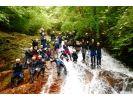 【兵庫・キャニオニング】Lv.1蓬山峡(ほうざんきょう)コースの様子
