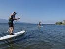 【滋賀 琵琶湖】びわ湖大橋を見ながら横断びわ湖のスイ~スイ散歩体験の様子