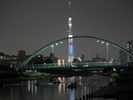 東京スカイツリーカヌー夜景ツアーの様子