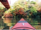 亀山湖紅葉カヌーツアー(千葉県)の様子